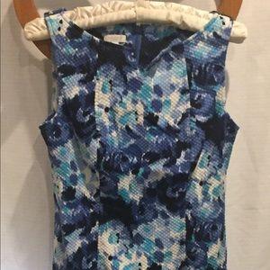 Talbots size 6 dress shades of blue, sleeveless